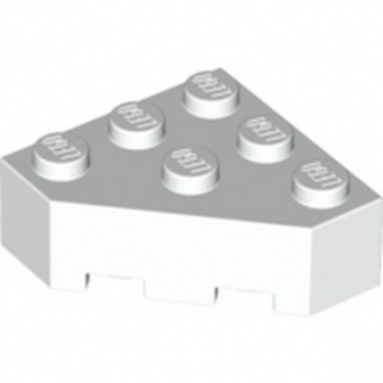 LEGO 6210105 BRIQUE D'ANGLE 45 DEG. 3X3 - BLANC