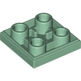 LEGO 6186828 PLATE LISSE 2x2 INVERSE - SAND GREEN