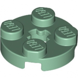 LEGO 6223237 PLATE 2X2 ROND - SAND GREEN