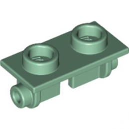LEGO 6223168 PLATE 1X2 (ROCKING) - SAND GREEN