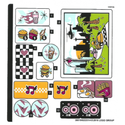 Stickers / Autocollant Lego  Friends - 41349 stickers-autocollant-lego-friends-41349 ici :