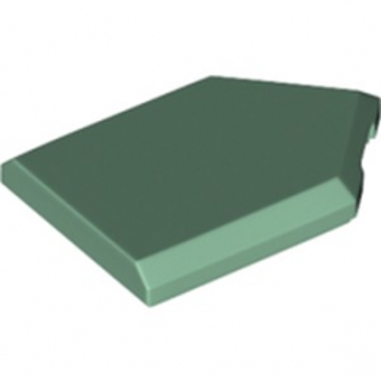 LEGO 6245273 FLAT TILE2X3 W/ANGLE  - SAND GREEN