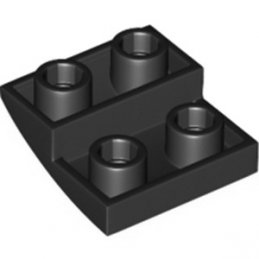 LEGO 6211476 BRIQUE 2X2X2/3, INVERTED BOW - NOIR