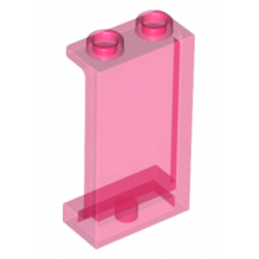 LEGO 6152451 CLOISON 1X2X3 - ROSE TRANSPARENT