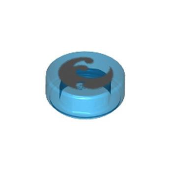 LEGO 6104423 IMPRIME ELVES 1X1 - BLEU FONCE TRANSPARENT
