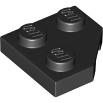 LEGO 6174243 PLATE 2X2, CORNER, 45 DEG. - NOIR
