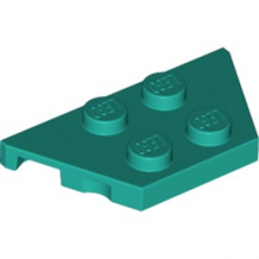 LEGO 6222951 PLATE 2X4X18° - BRIGHT BLUEGREEN