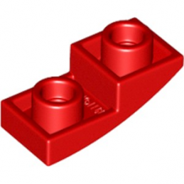LEGO 6186398 DOME INV. 1X2X2/3 - ROUGE