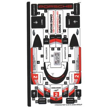 Stickers / Autocollant Lego Speed Champions 75887