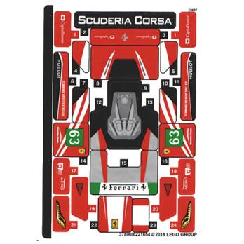 Stickers / Autocollant Lego Speed Champions 75886