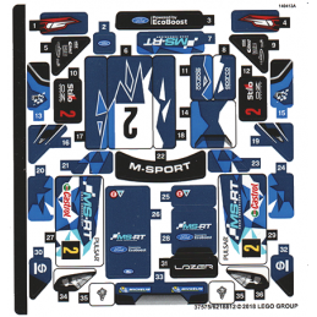 Stickers / Autocollant Lego Speed Champions 75885