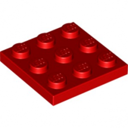 LEGO  6217123 PLATE 3X3 - ROUGE lego-6217123-plate-3x3-rouge ici :