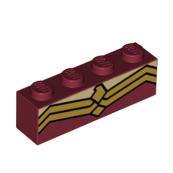 LEGO 6213561 BRIQUE 1X4 IMPRIME BRICKHEADZ WONDER WOMAN