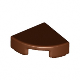 LEGO 6149677 PLATE LISSE 1/4 ROND 1X1 - REDDISH BROWN