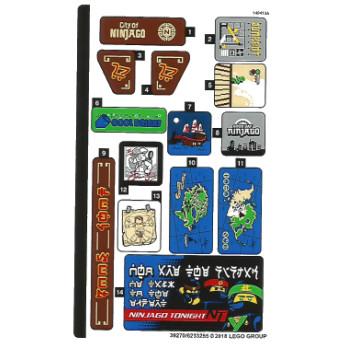 Stickers / Autocollant Lego Ninjago 70657