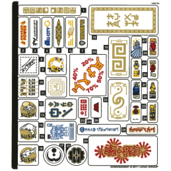 Stickers / Autocollant Lego Ninjago 70620