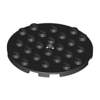 LEGO 6097413 PLATE RONDE 6X6 - NOIR