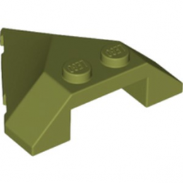 LEGO 6221612 ROOF TILE 4X4 45DEG - OLIVE GREEN