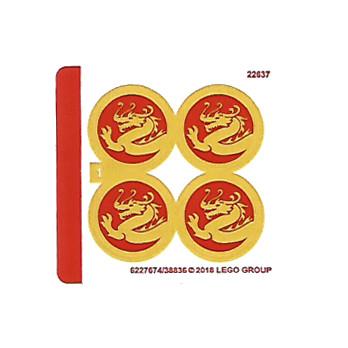 Stickers / Autocollant Lego Ninjago 70650