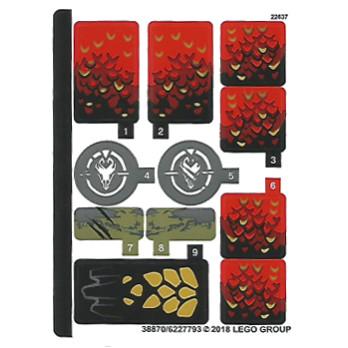 Stickers / Autocollant Lego Ninjago 70653