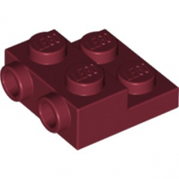 LEGO 6188829 PLATE 2X2X2/3 W. 2. HOR. KNOB - NEW DARK RED