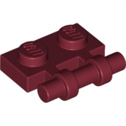 LEGO 6214312 PLATE 1X2 W. STICK - NEW DARK RED