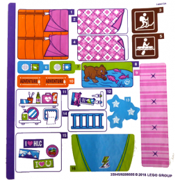 Stickers / Autocollant Lego  Friends - 41339
