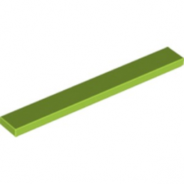 LEGO 6215448 PLATE LISSE 1X8 - BRIGHT YELLOWISH GREN