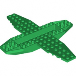 LEGO 6226793 CHASSIS AVION 18X16X1X1 1/3 - DARK GREEN