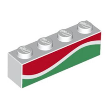 LEGO 6227749 BRIQUE 1X4 - IMPRIME