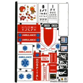 Stickers / Autocollant Lego City 60204