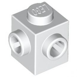 LEGO 6224811 BRIQUE 1X1, W/ 2 KNOBS - BLANC