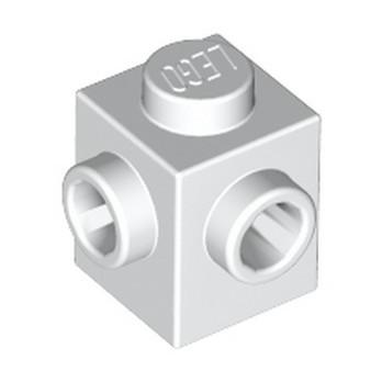 LEGO 6224811 BRIQUE 1X1, W/ 2 KNOBS - BLANC