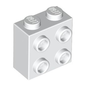 LEGO 6218823 BRIQUE 1X2X1 2/3 W/4 KNOBS - BLANC