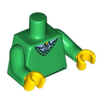 LEGO 6037790 TORSE  HOMME PULL DARK GREEN