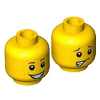 LEGO 6121896 TÊTE ENFANT ( 2 FACES )