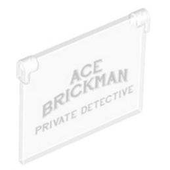 LEGO 6100569 VITRE POUR FENETRE 1X4X3 - IMPRIME DETECTIVE
