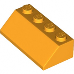 LEGO 6195281 TUILE 2X4/45° - FLAME YELLOWISH ORANGE lego-6195281-tuile-2x445-flame-yellowish-orange ici :