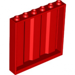 LEGO 6226927 MUR / CLOISON CONTAINER 1X6X5 - ROUGE