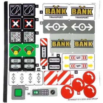 Stickers / Autocollant Lego City 60198