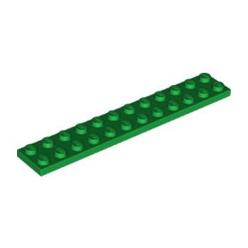 LEGO 6218146 PLATE 2X12 - DARK GREEN