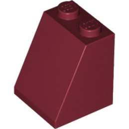 LEGO 4625281 TUILE 2X2X2/65 DEG. - NEW DARK RED