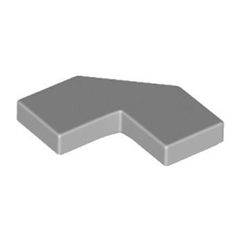 LEGO 6177078 PLATE LISSE 2X2, 2X2, DEG. 90, W/ DEG. 45 - MEDIUM STONE GREY