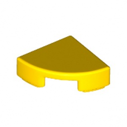 LEGO 6195183 PLATE LISSE 1/4 ROND 1X1 - JAUNE