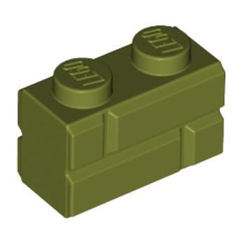 LEGO 6202628 BRIQUE1X2 - OLIVE GREEN