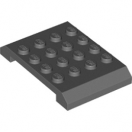LEGO 6226932 SHELL, 4X6X2/3  - DARK STONE GREY