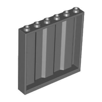 LEGO 6224274 MUR / CLOISON CONTAINER 1X6X5 - DARK STONE GREY