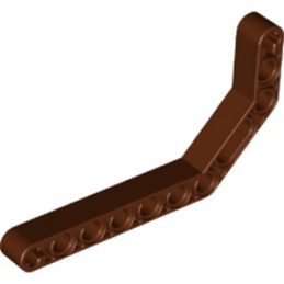 LEGO 6170892 DOUBLE ANGULAR BEAM 3X7 45° - REDDISH BROWN