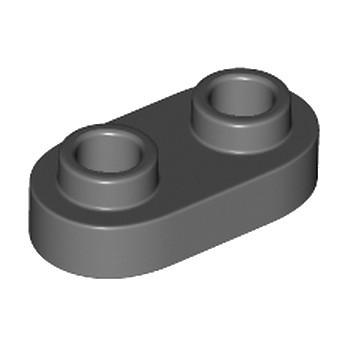 LEGO 6221607 PLATE 1X2, ROND - DARK STONE GREY