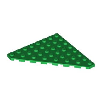LEGO 6096714 PLATE 8X8 ANGLE 45 DEG - DARK GREEN